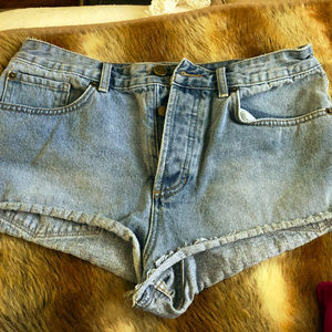Light-medium Wash Denim Shorts